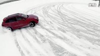 Porsche Cayenne GTS Handling circle on the Snow _ AutoMotoTV
